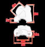 Stuurverhogerset R1200GS/LC & GSA/LC 2013-2018  (32mm stuurdiameter)_