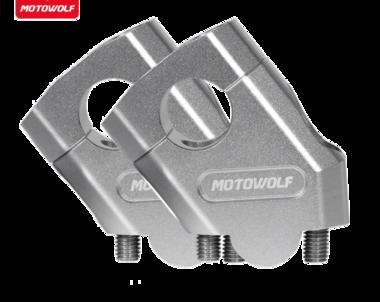 Stuurverhogerset 40mm hoger, 18mm pull back voor een 28,6mm stuur zilver
