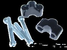 Verhogerafstandblok set LSL 30mm zwart (28,6mm stuur)