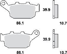 Remblokkenset MCB585 SRM*