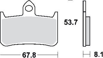 Remblokkenset MCB593 SV