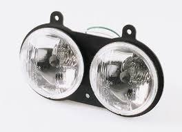 Dubbele koplamp met inbouwframe