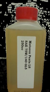 MOTOREX GEAR OIL PENTA LS 75W140 0,25 Liter voor de cardan