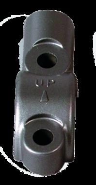 Spiegelsteun rem en koppelingspomp 22mm stuur Alu kleur