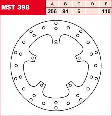 Remschijf (star)  Lucas MST398