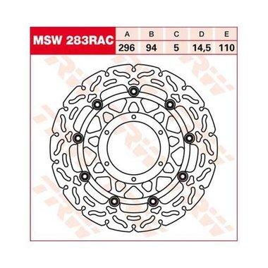 Remschijf (zwevend)  Lucas MSW283RAC