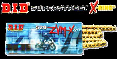 DID Ketting 520 ZVM-X G&G 108 pins, met klinkschakel