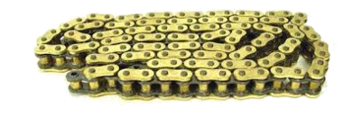 IRIS ketting, 520 XR G&B, 108 pins, met klinkschakel