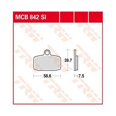 Remblokkenset MCB842 SI*