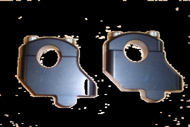 Stuurverhogerset dubbel LSL zwart 16/28  (28,6mm stuur)