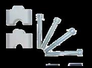 Verhogerafstandblok set LSL 30mm Silver (28,6mm stuur)
