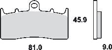 Remblokkenset MCB736SV