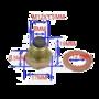 Magnetische aftapplug